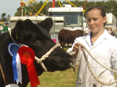 Liz showing at an agricultural show.